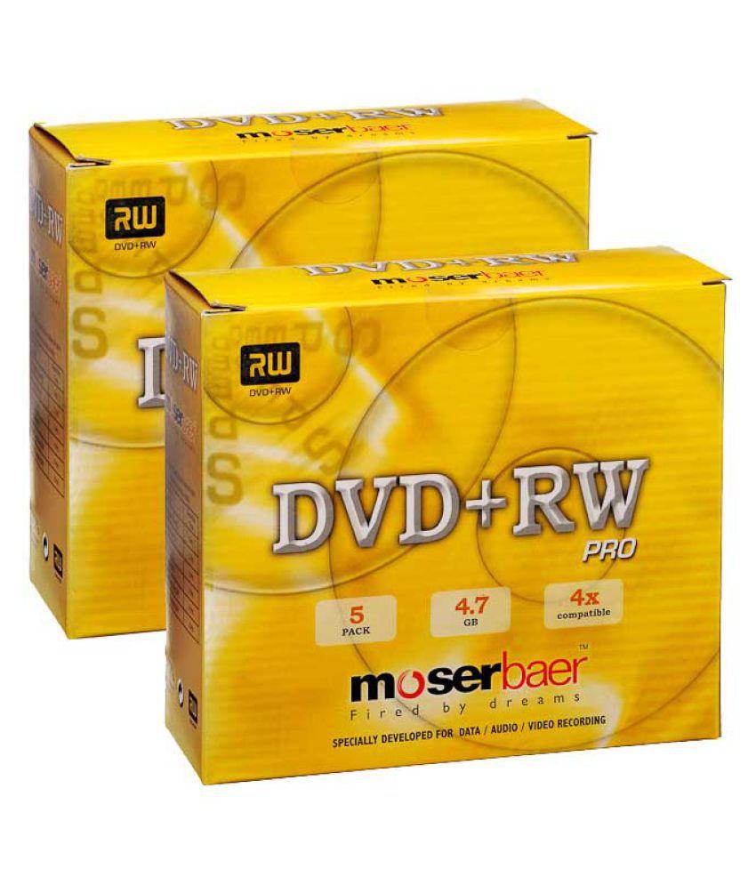 Moserbaer DVDRW 10 DVD Rewritable