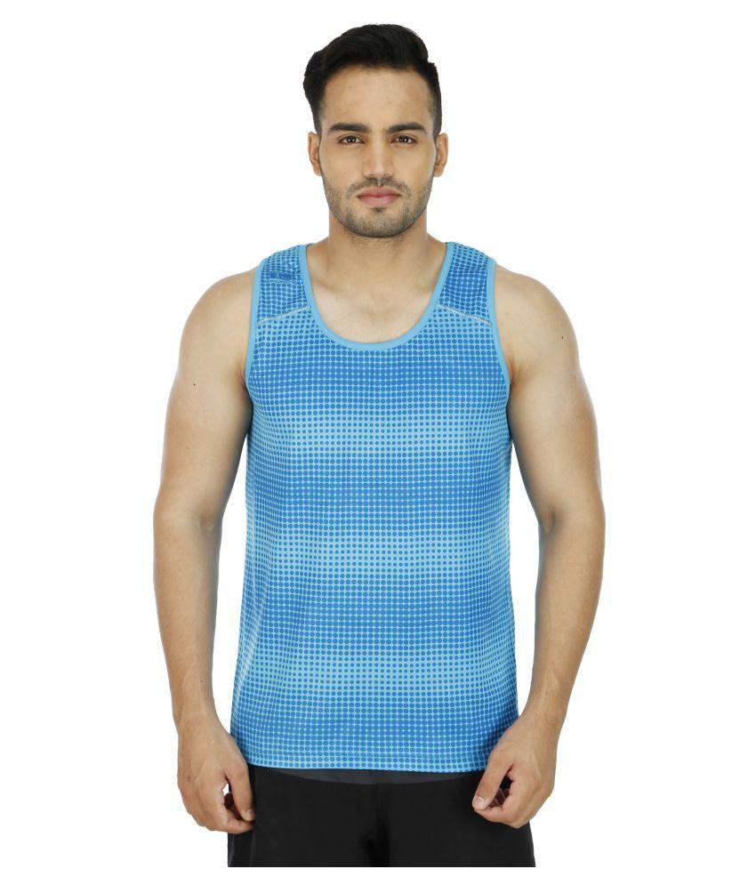 T10 Sports Blue Cotton Lycra T-Shirt