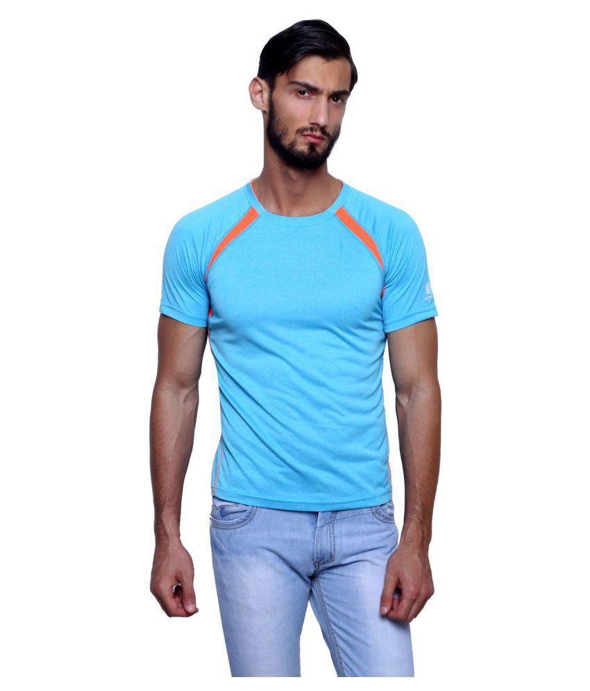 T10 Sports Blue Cotton Lycra T-Shirt