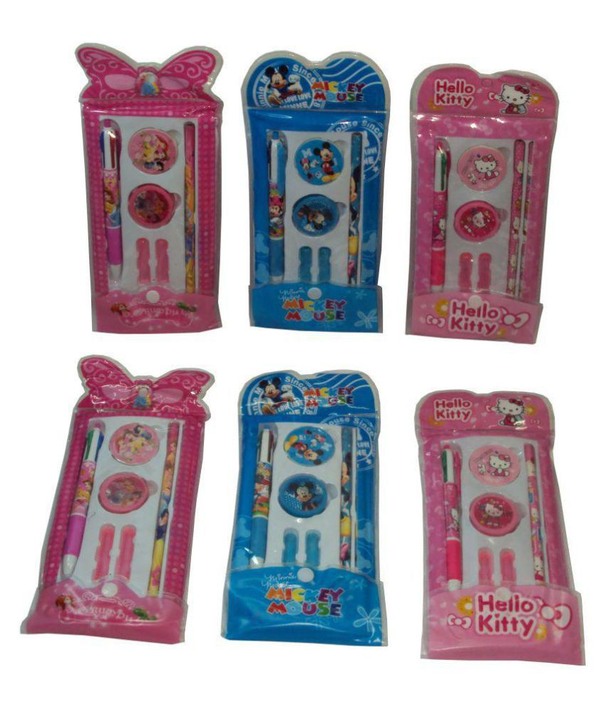 Parteet Birthday Party Return Gifts Pack Of 6 Mix Stationery Kit Set