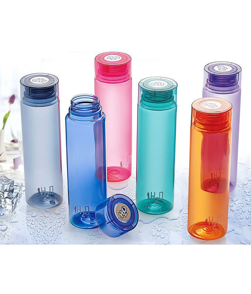 Cello H2O Multicolour 1000 Fridge Bottle