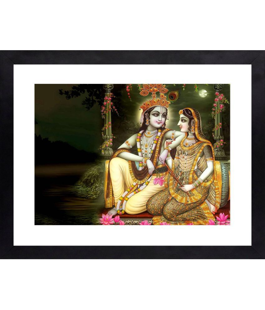 Craftsfest God of Blessing Canvas Painting With Frame Single Piece