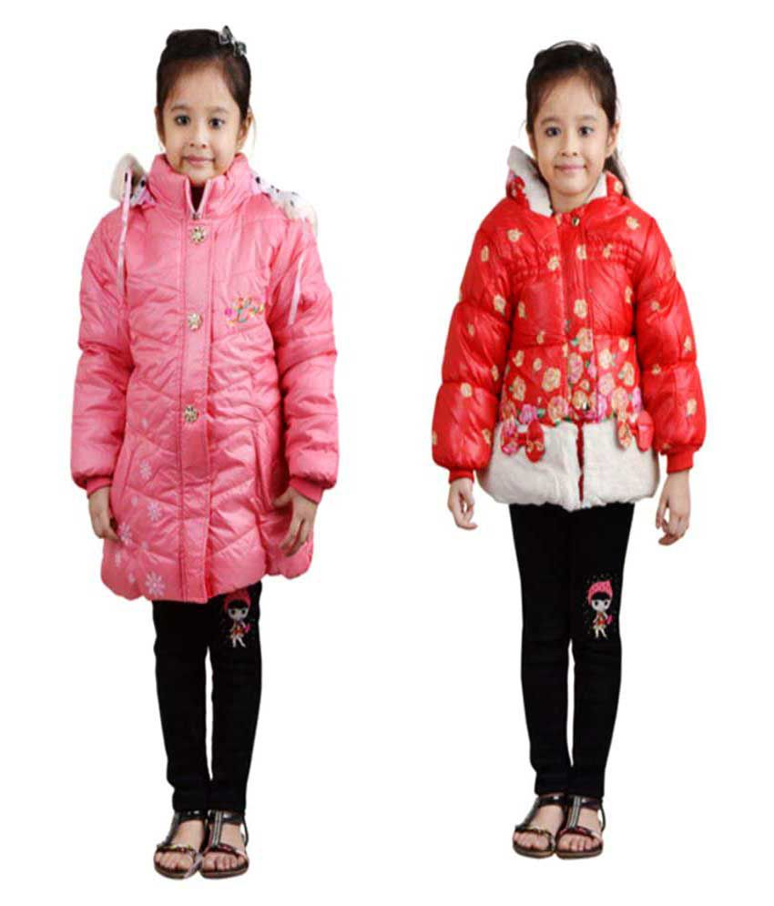 Crazeis Multicolour Nylon Jacket (Pack of 2)