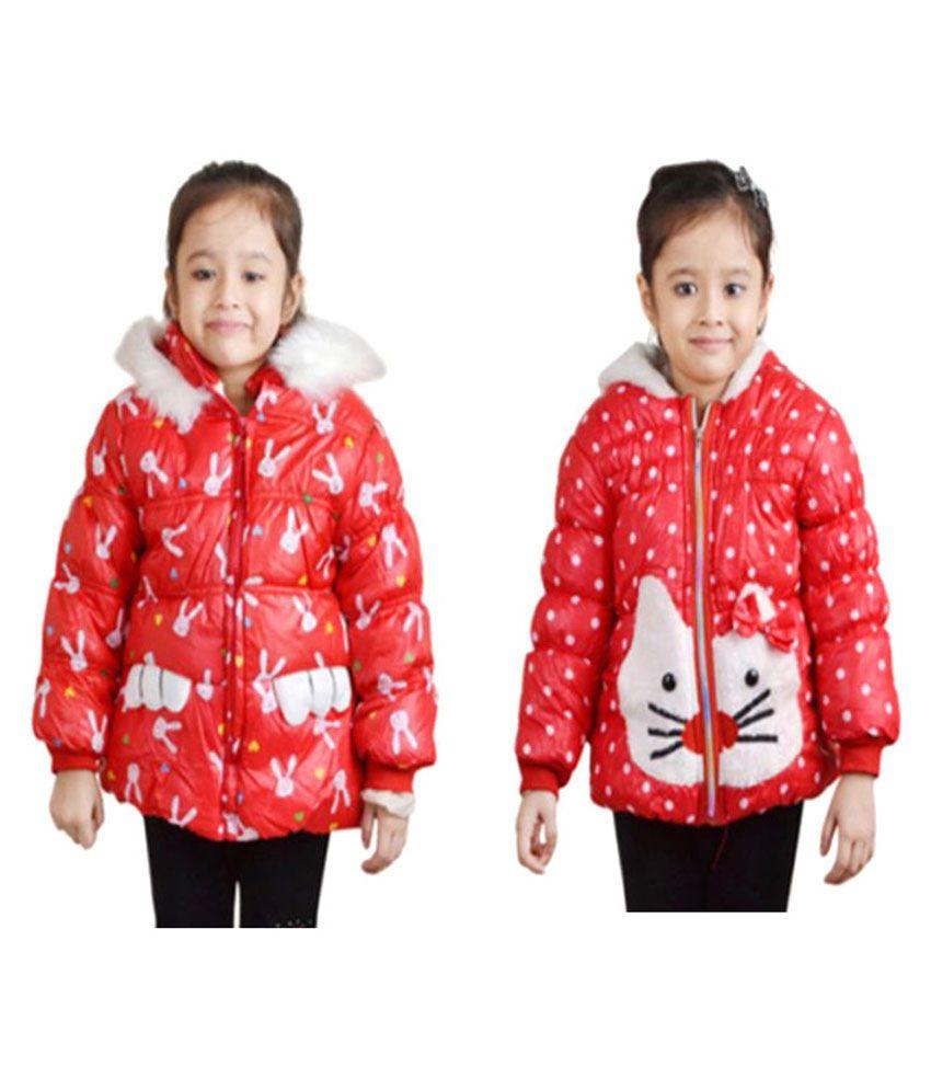Qeboo Red Nylon Jacket- Pack of 2