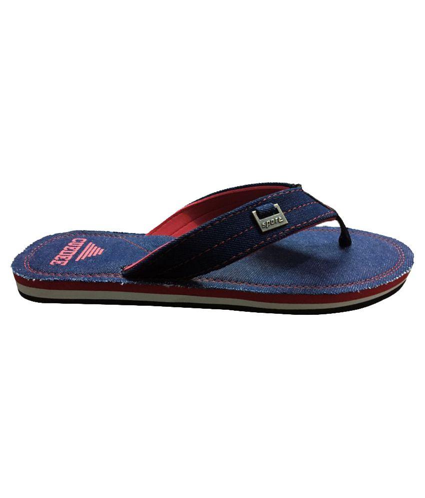 Cuedee Blue Thong Flip Flop