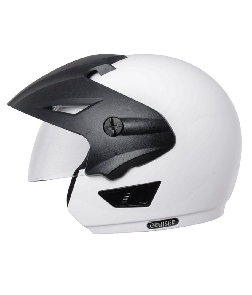 Vega Helmet Cruiser With Peak White Buy Vega Helmet