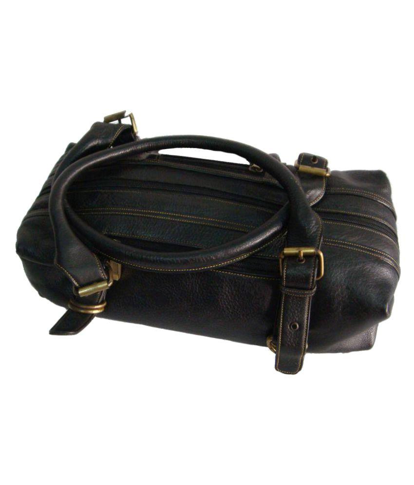 Saw Leather Goods Black Pure Leather Shoulder Bag