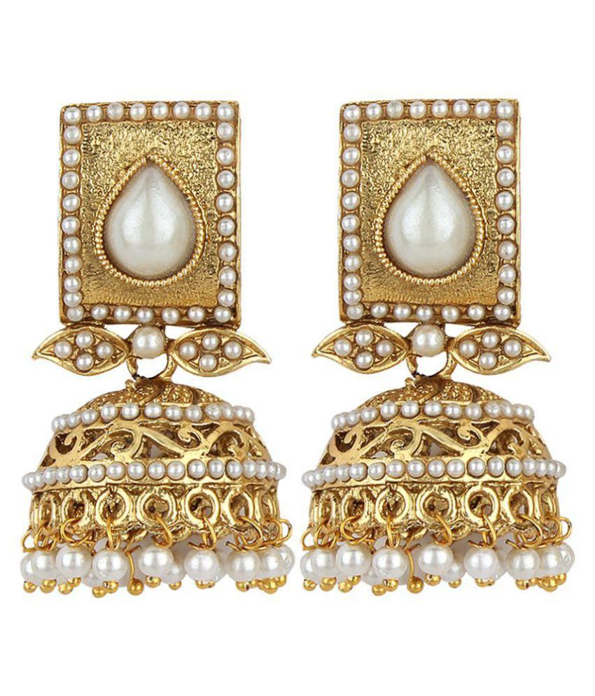 Angel In You Exclusive Golden Jhumki Earrings