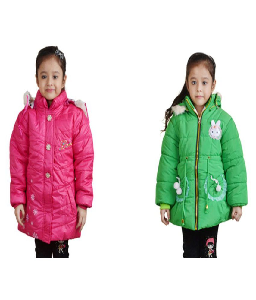 Qeboo Multicolor Quilted Jackets - Pack of 2