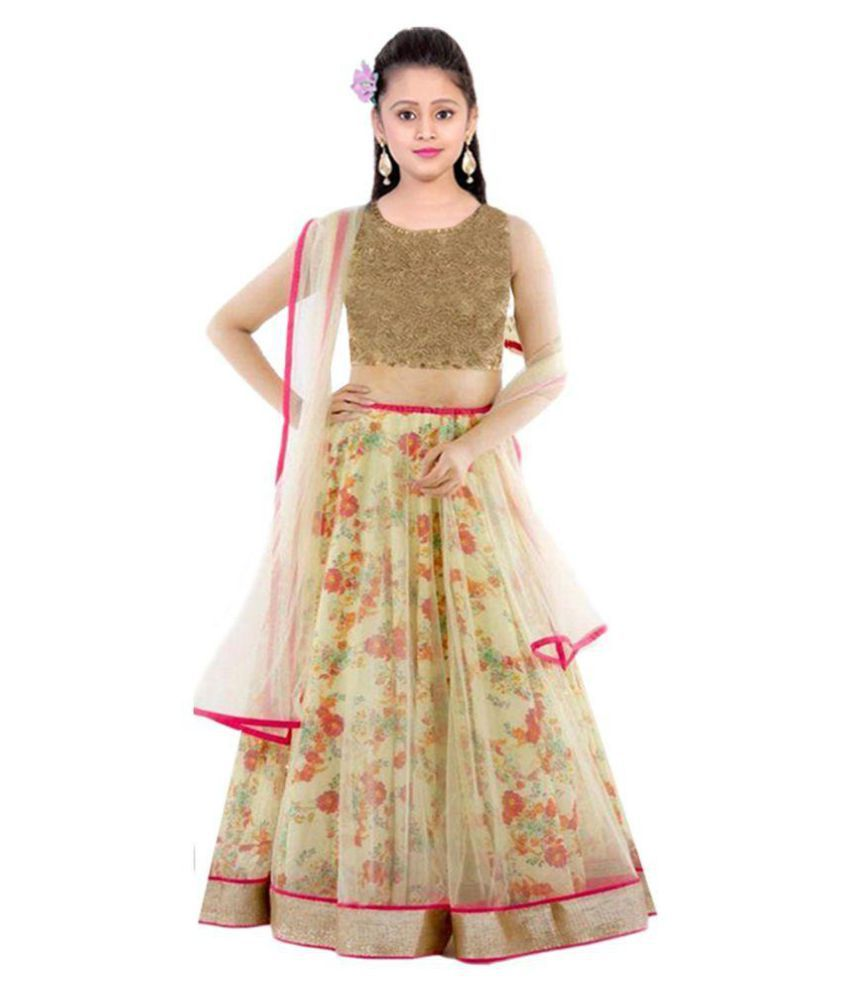 Wedding Lancha Images: Creativeswilla Multicolor Net Comfortable Semi Stitched