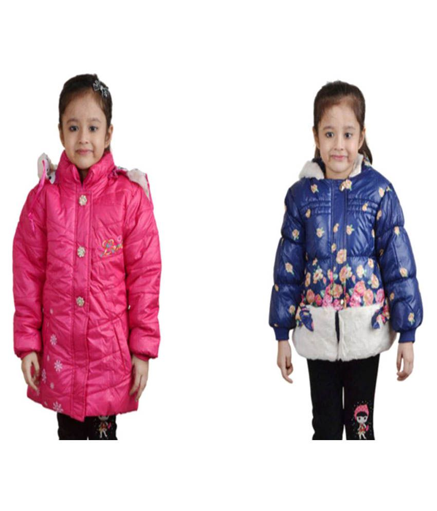 Crazeis Multicolor Quilted Jackets - Pack of 2
