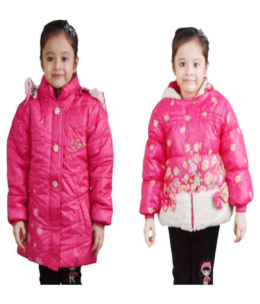 Qeboo Pink Quilted Jackets - Pack of 2