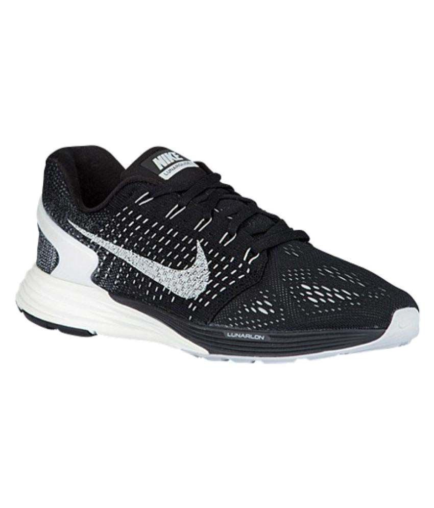 0371d86a649a Nike Lunarglide 7 Black Running Shoes - Buy Nike Lunarglide 7 Black Running  Shoes Online at Best Prices in India on Snapdeal
