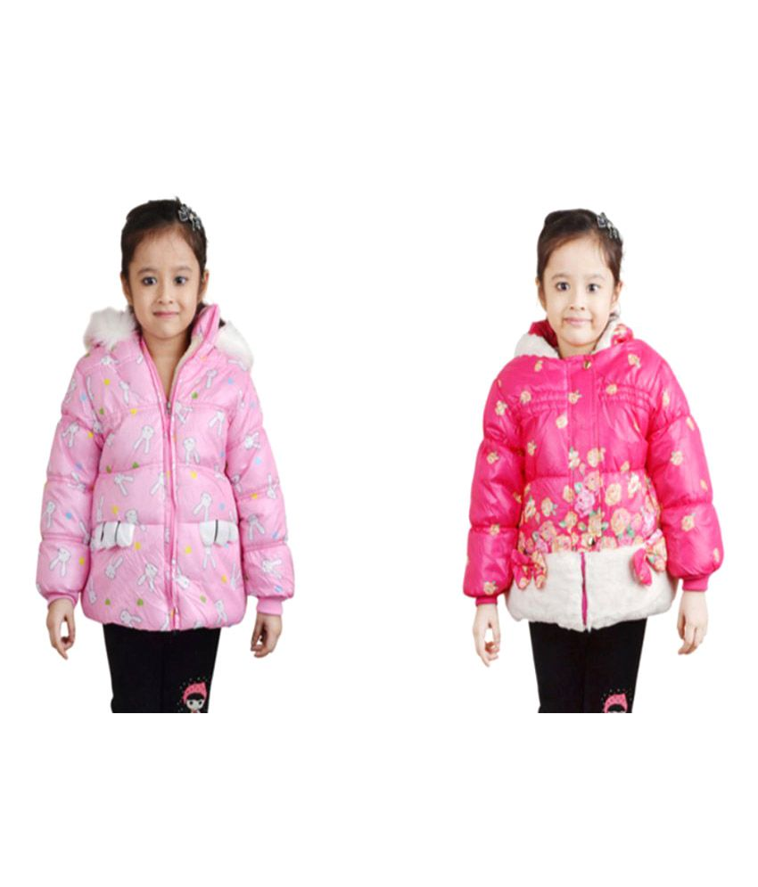 Qeboo Pink Nylon Jackets - Pack of 2
