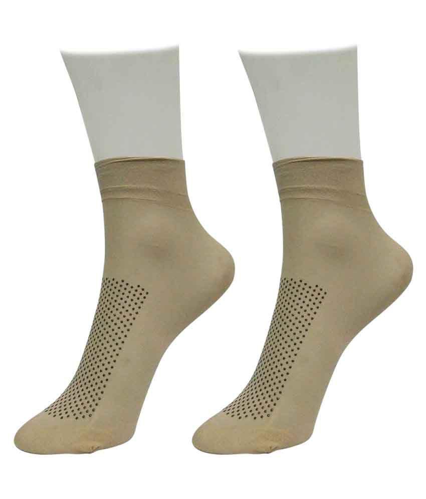 Gold Dust Beige Mid Length Socks