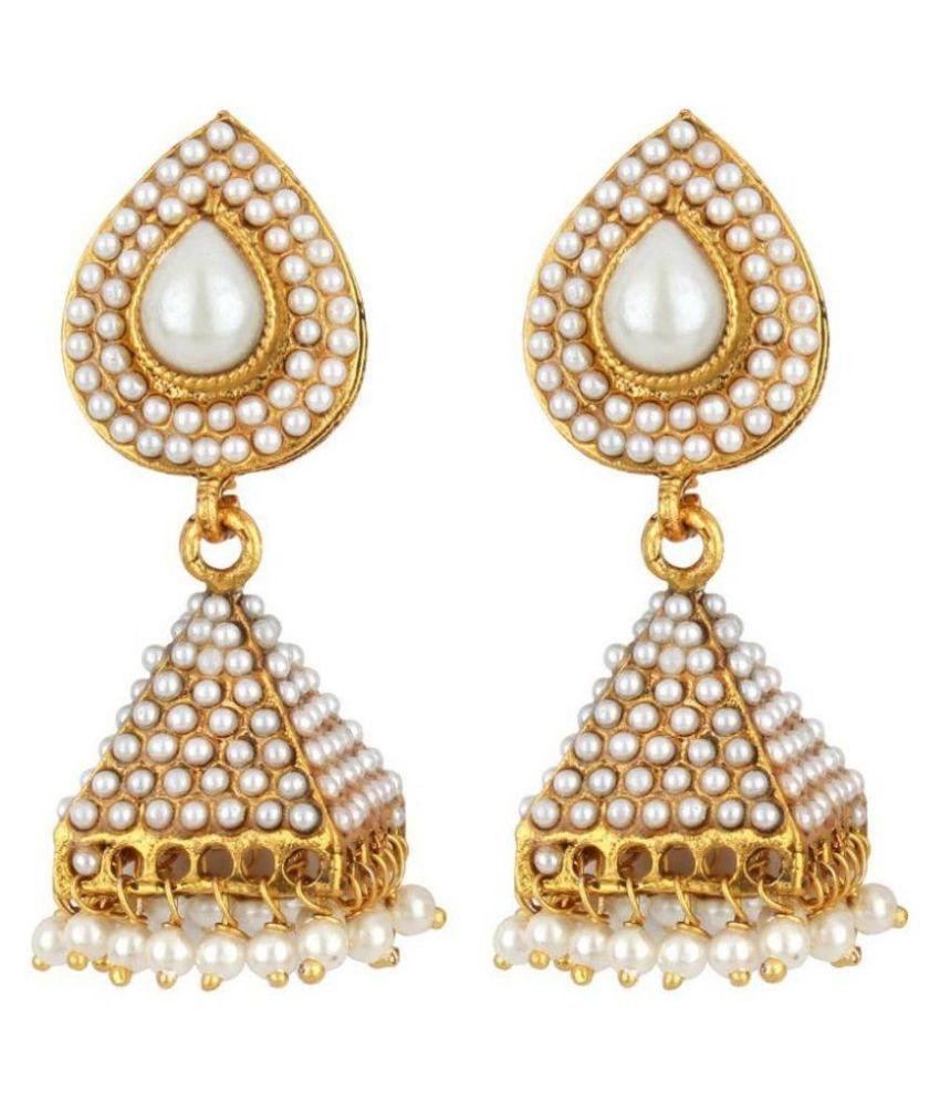Jewels Gehna Designer Gold Plated Antique Jhumki Earring Set