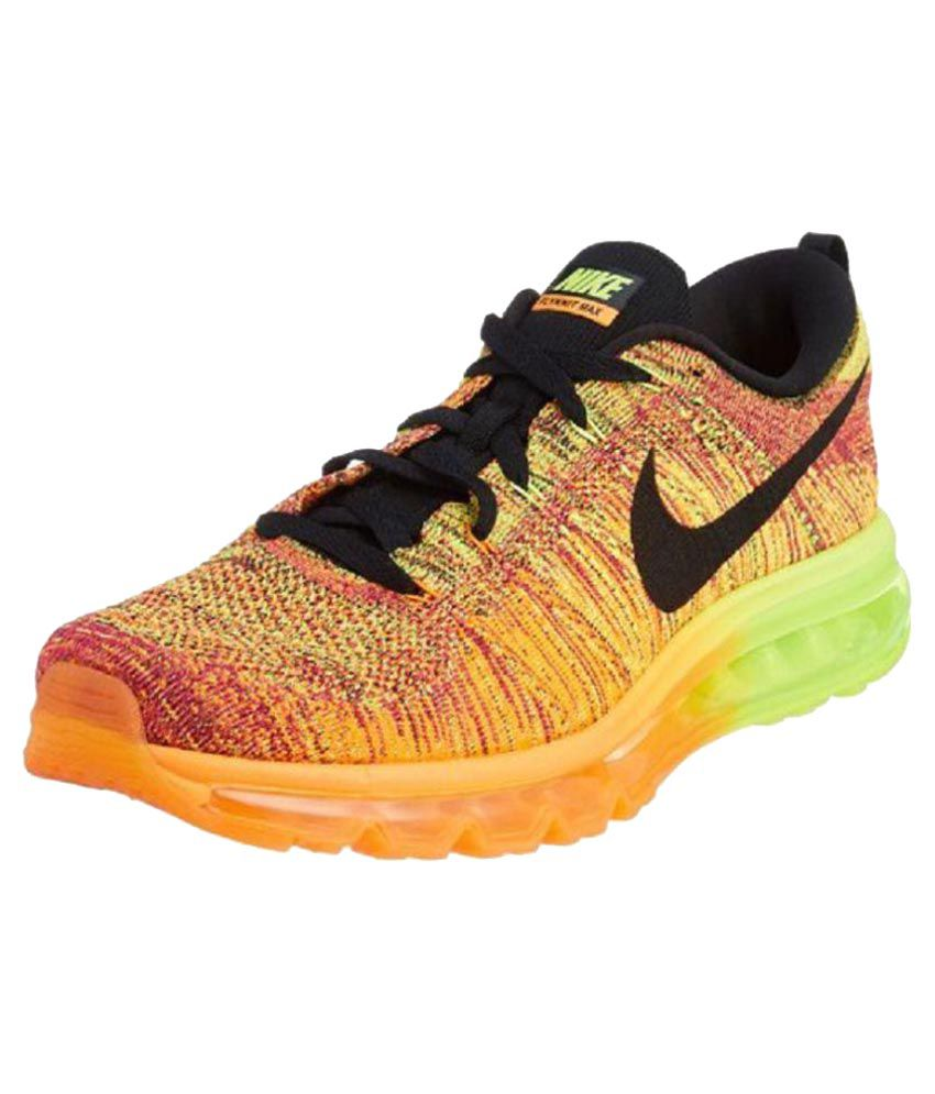 sale retailer 5e152 a4390 Nike Flyknit Air Max Multi Color Running Shoes