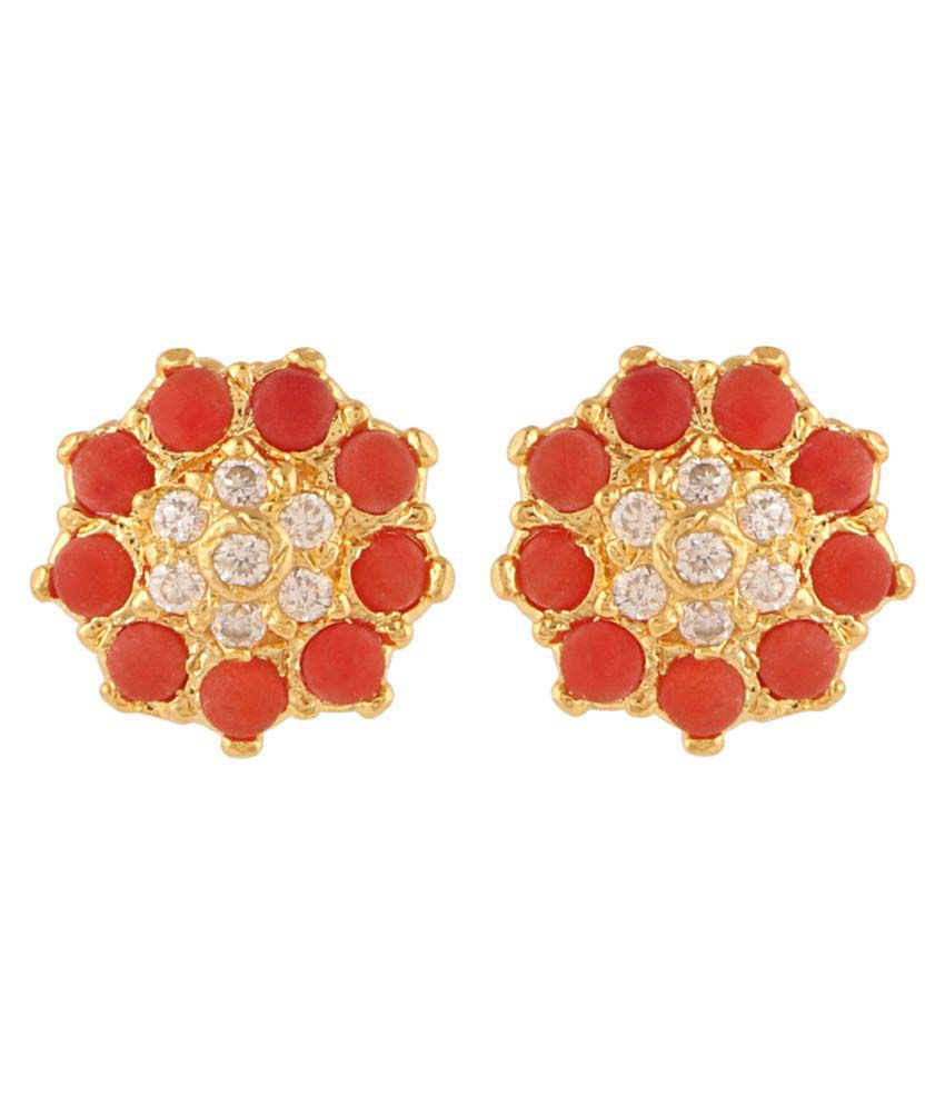 Efulgenz Cz Stud Earrings