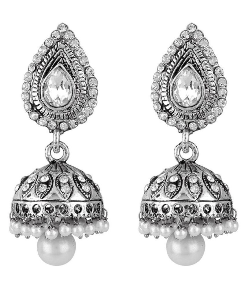 Jewels Guru Exclusive White Earrings