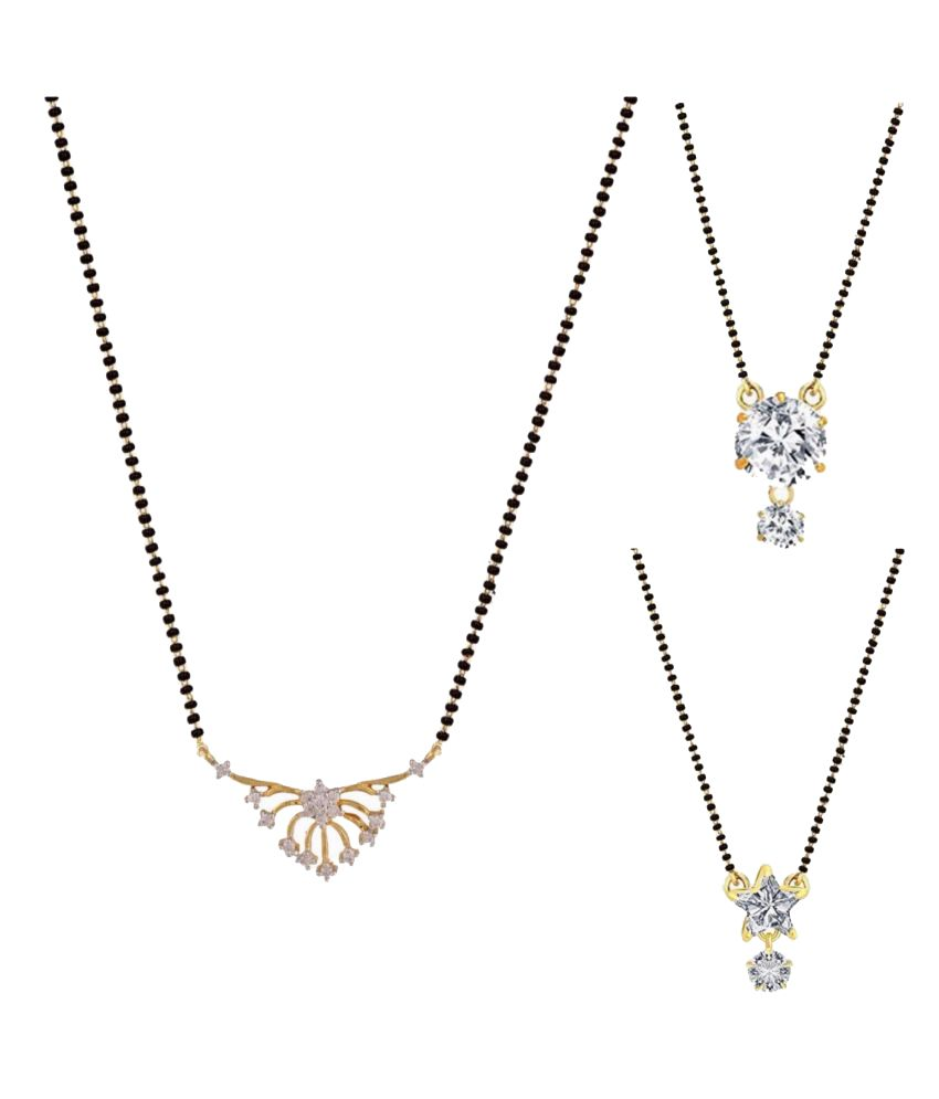 Parinaaz Multicolour Mangalsutra - Pack of 3