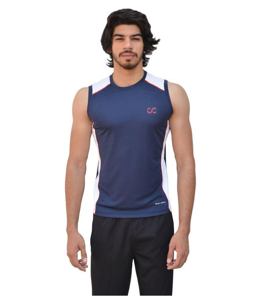 Color Castle Navy Polyester T-Shirt