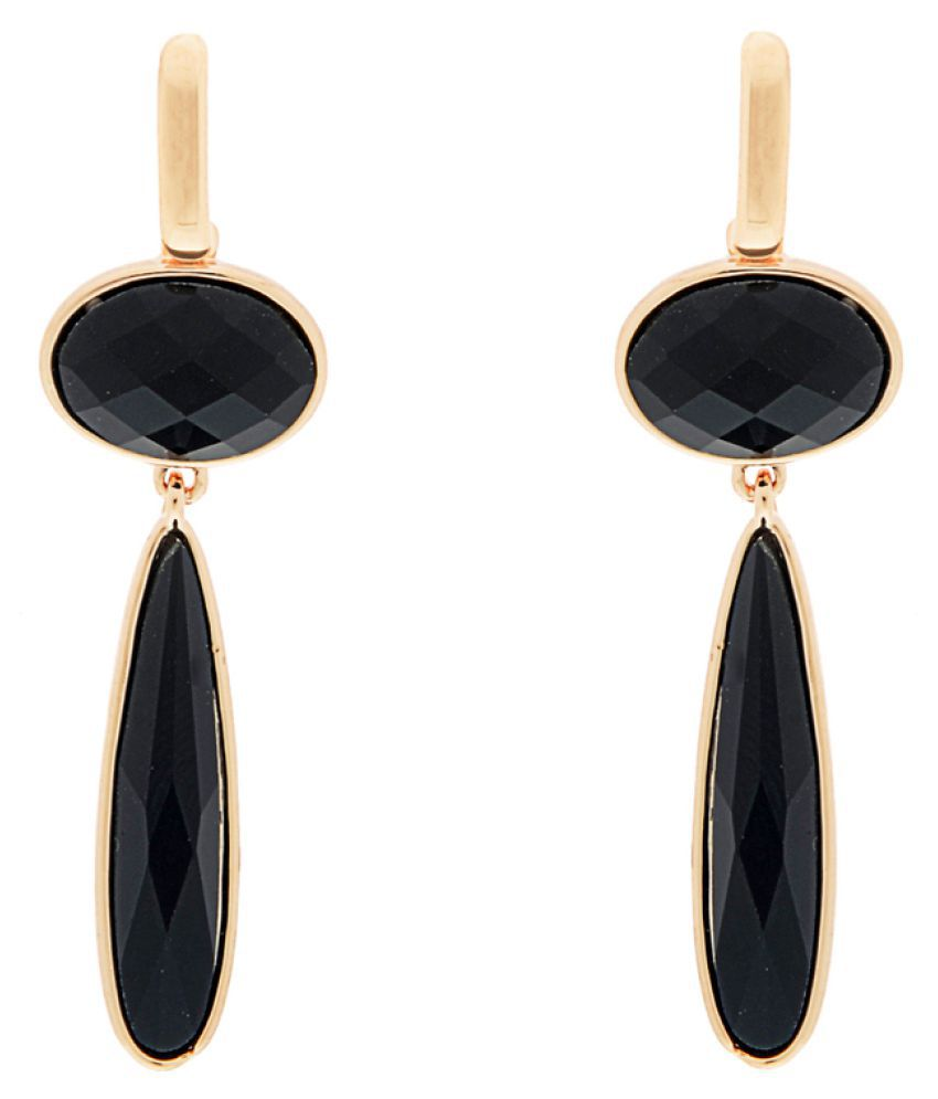 The Ethnic Wears Unique Collection Black Stones Embedded Earrings For Women