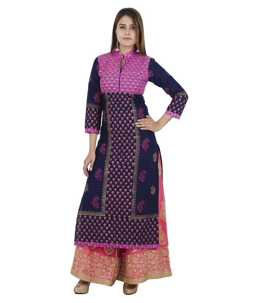Zoeyam's Multicoloured Cotton Anarkali Kurti