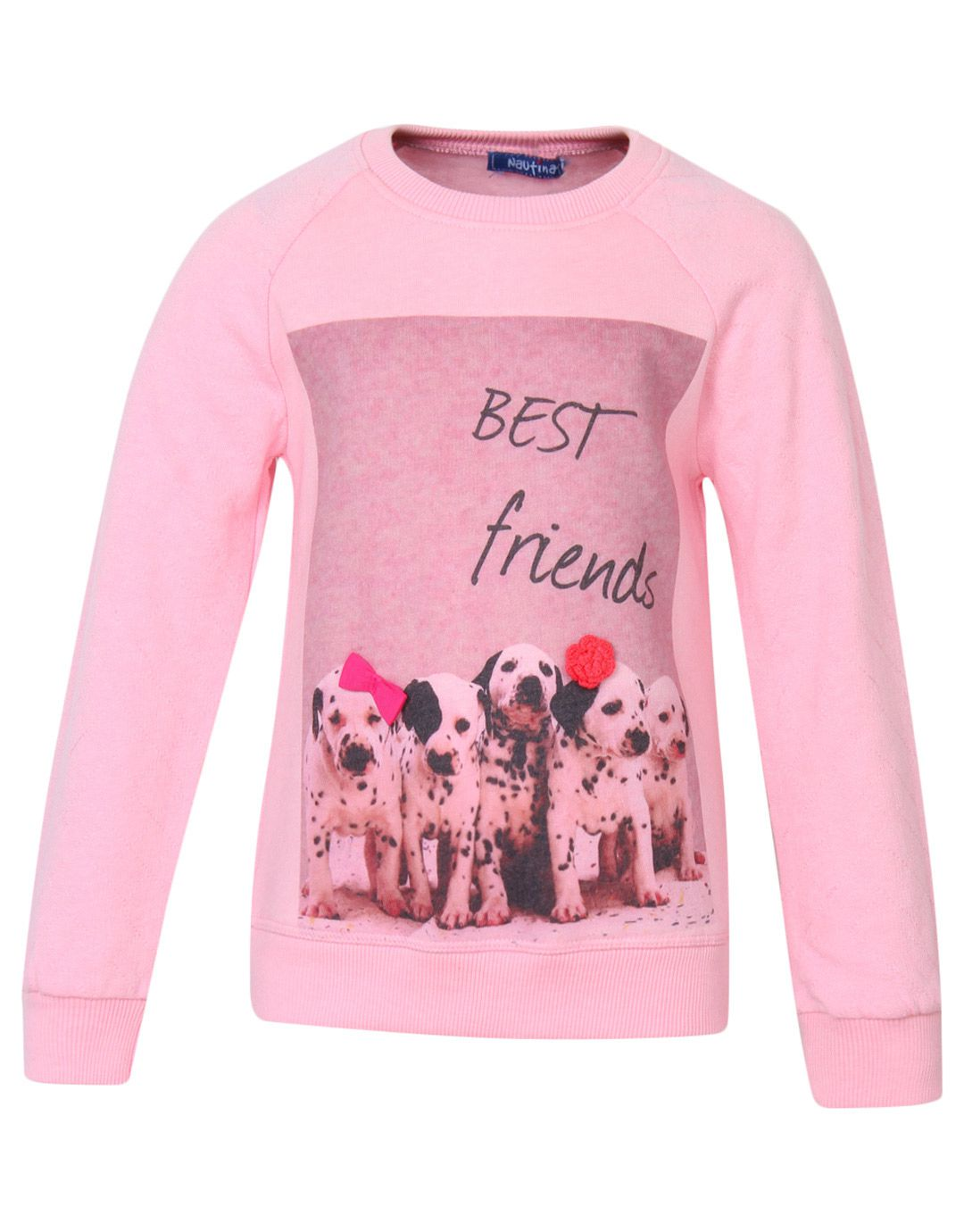 Nauti Nati Pink Cotton Sweatshirt