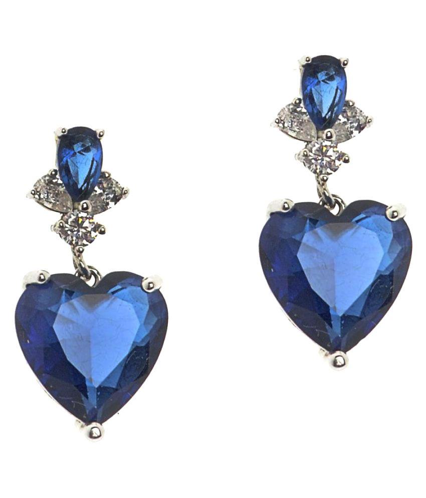 The Ethnic Wears Blue Drop Earrings