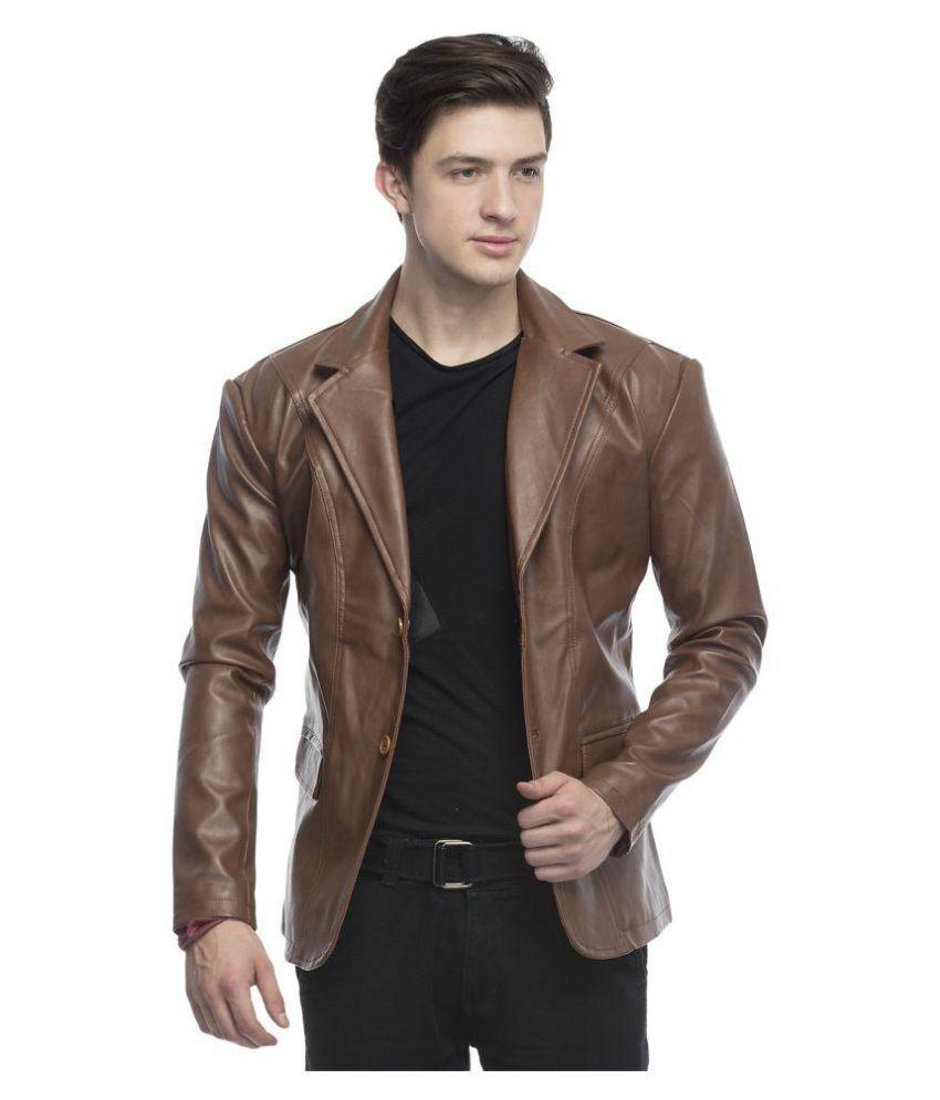 ce6300f67 Lambency Brown Casual Jacket