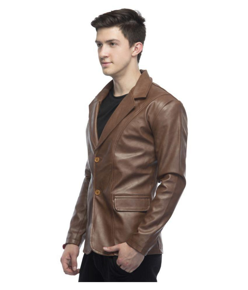 587f9e6ad80 Lambency Brown Casual Jacket - Buy Lambency Brown Casual Jacket ...