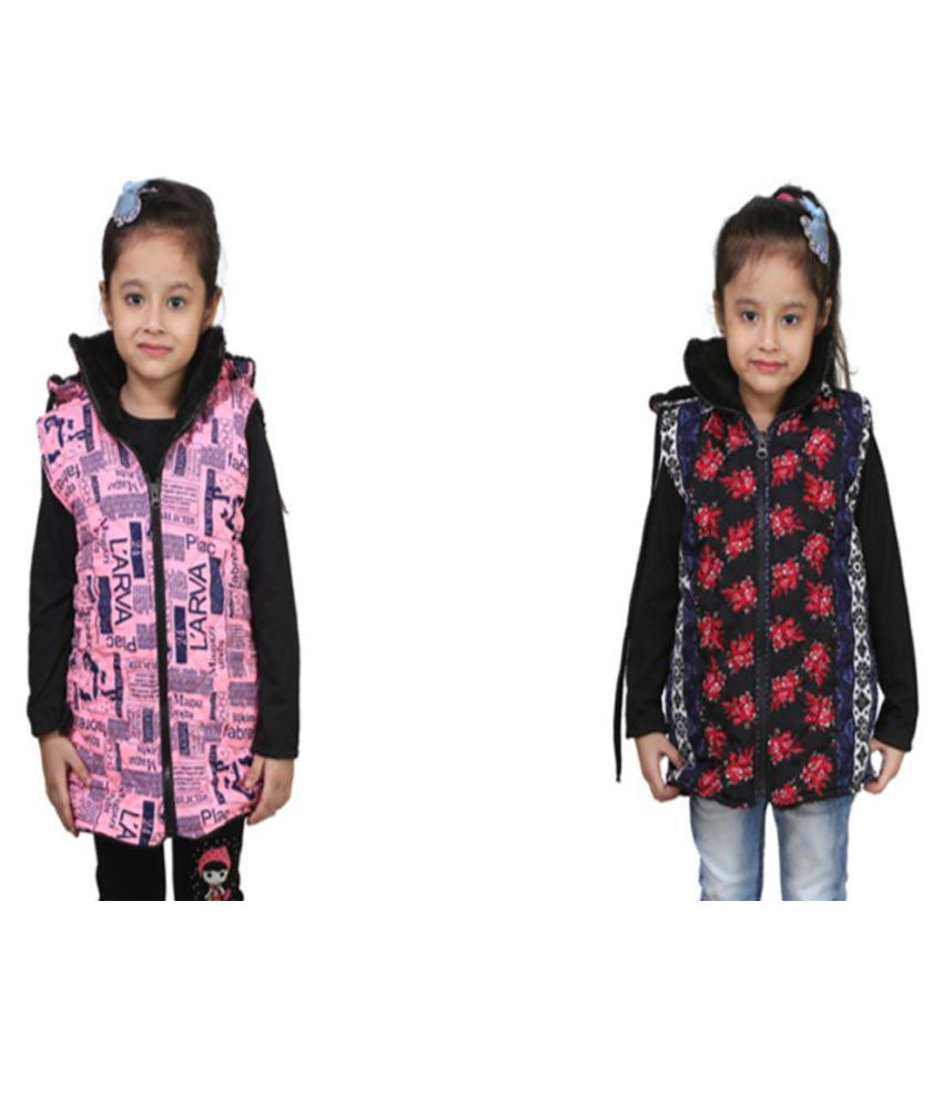 Qeboo Multicolour Nylon Light Weight Jacket- Pack of 2