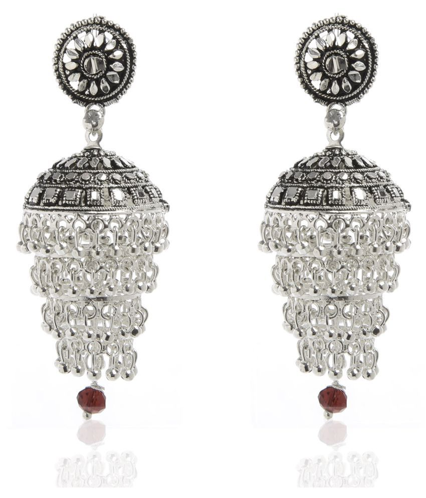 Tsquare Silver Alloy Jhumki Earrings