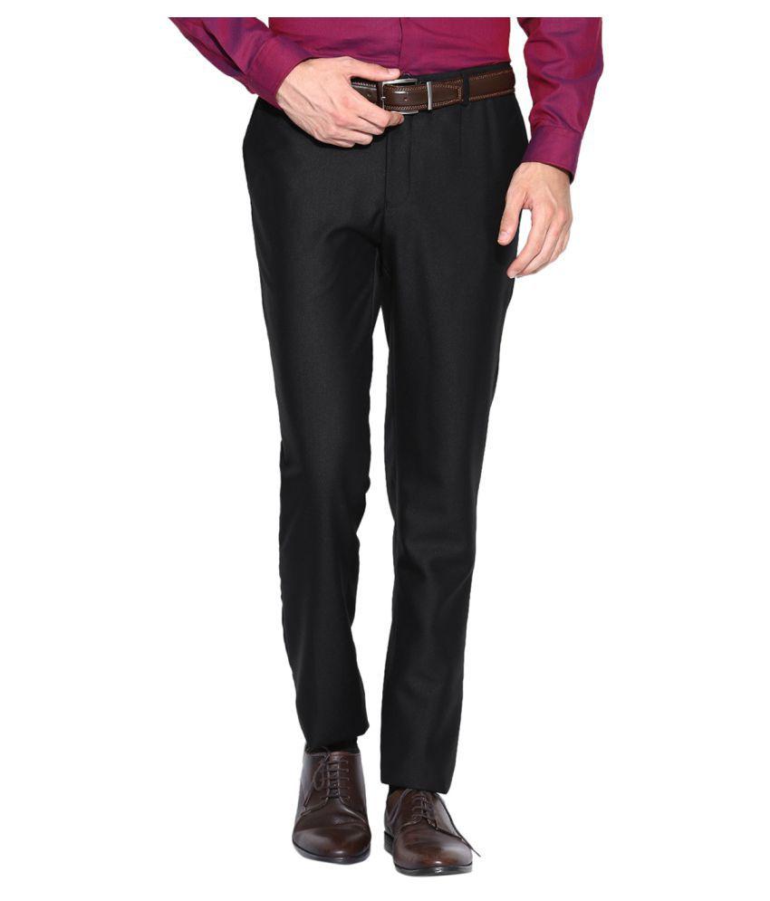 Blackberrys Black Slim Flat Trousers