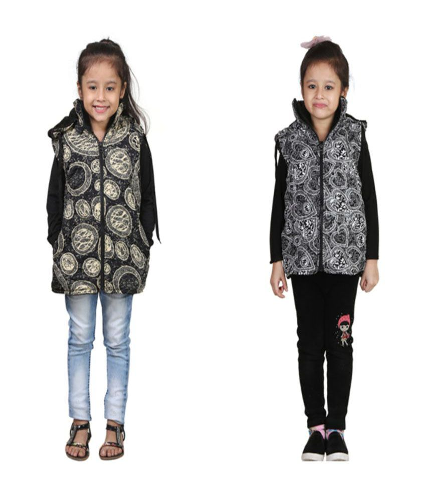 Crazies Combo of 2 Half Jackets for Girls