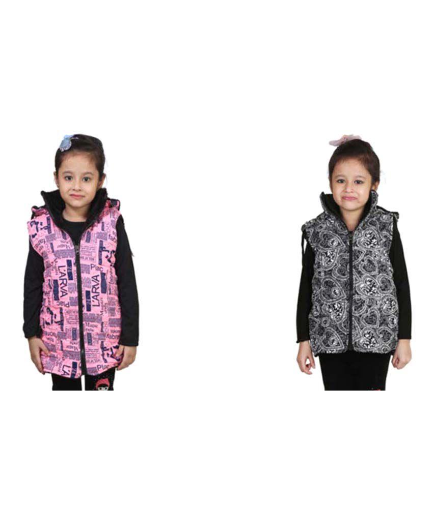 Crazies Multicolour Nylon Jacket - Pack of 2