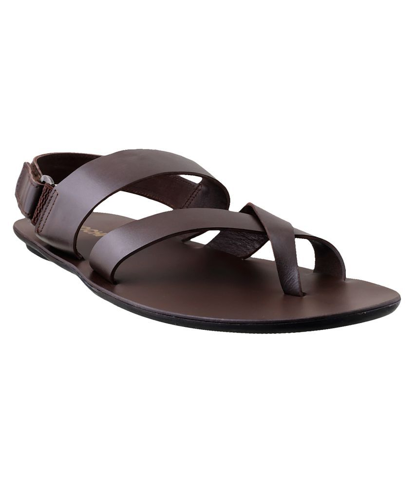 Mochi Mochi Men Brown Leather Brown Sandals Price In India