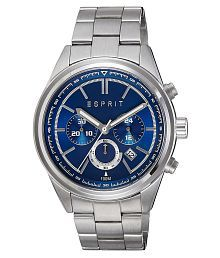 Esprit Silver Strapped Blue Dial Analog Watch