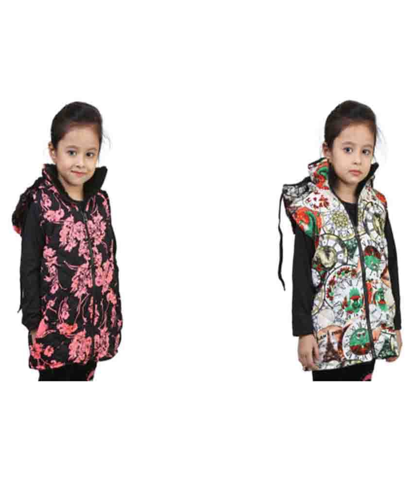 Qeboo Multicolour Half Jacket - Pack of 2