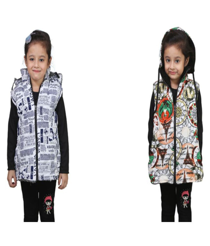 Qeboo Multicolor Nylon Light Weight Jacket - Pack of 2