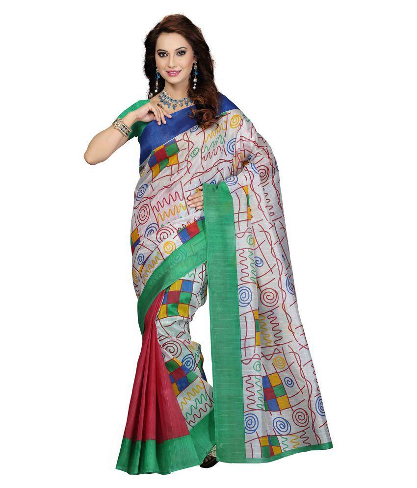 Ishin Multicoloured Art Silk Saree