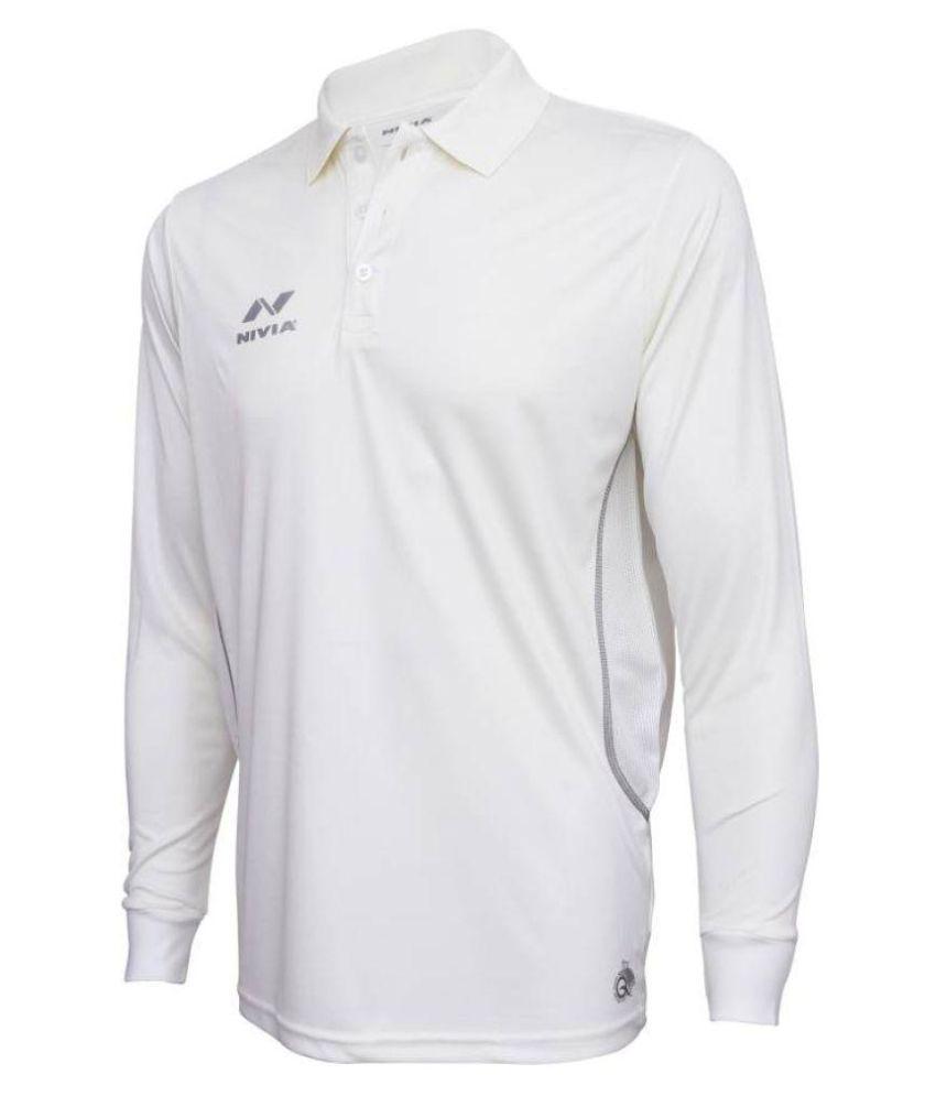 Nivia White Full Sleeves Cricket Jersey-2506s1