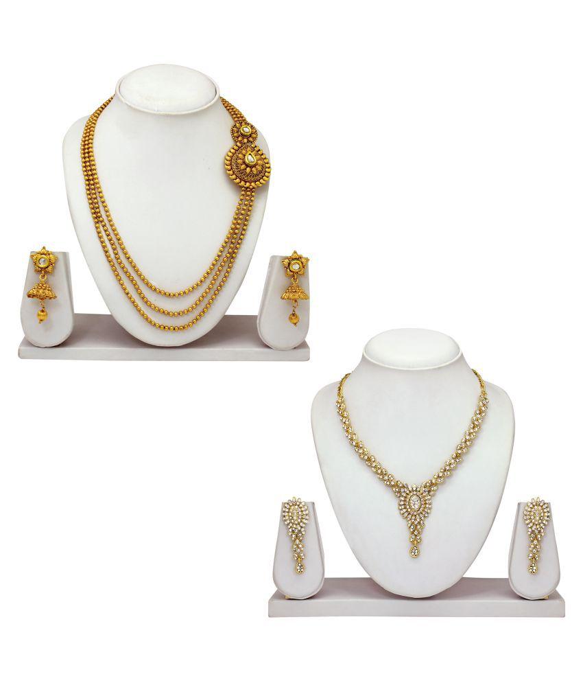 Atasi International Golden Combo Necklace Set