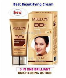 Meglow BB+ [Best Beautifying] Cream [Pack Of 2] 30 Gms Each Day Cream 60 Gm Pack Of 2