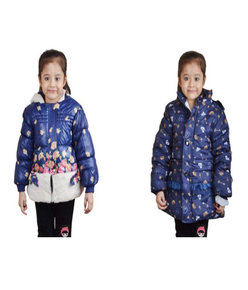 Crazeis Full Sleeves Nylon Jackets For Girls Pack of 2