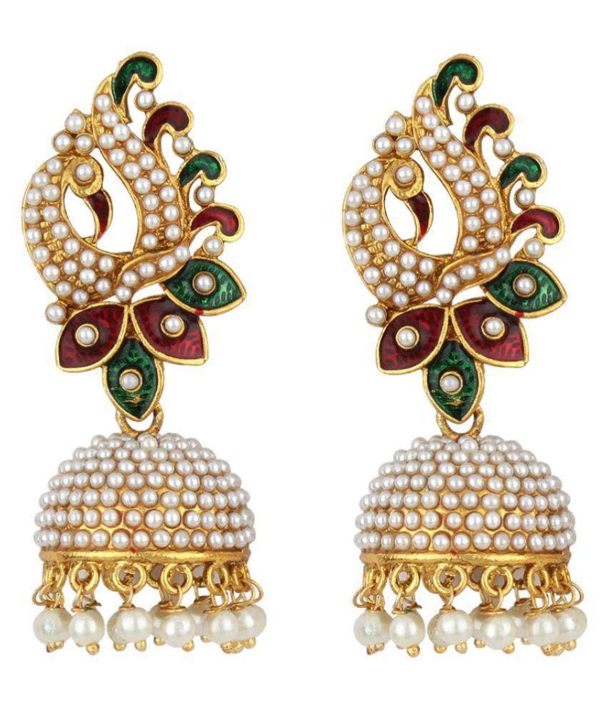 Jewels Guru Multi Alloy Jhumki Earrings