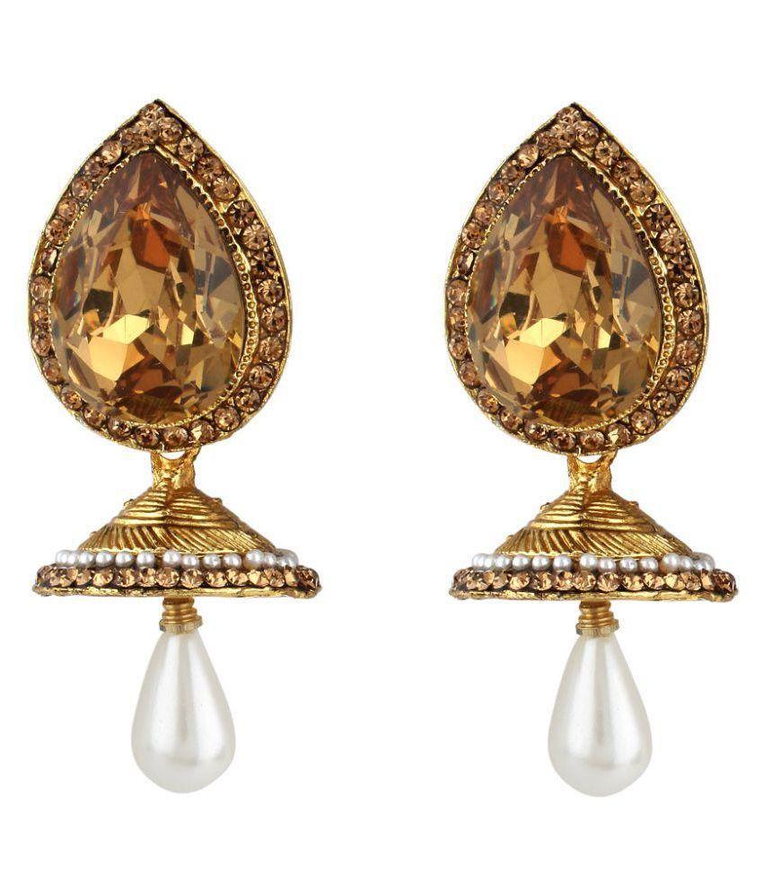 Jewels Guru Exclusive Golden Jhumki Earrrings