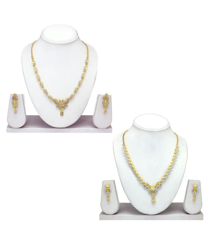 Atasi International Golden Alloy Necklace Set Combo