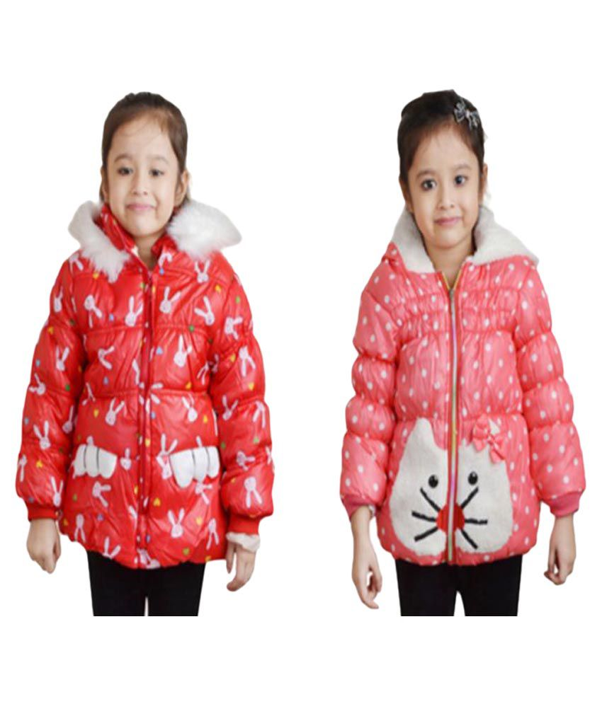 Crazeis Red Nylon Jackets - Pack of 2