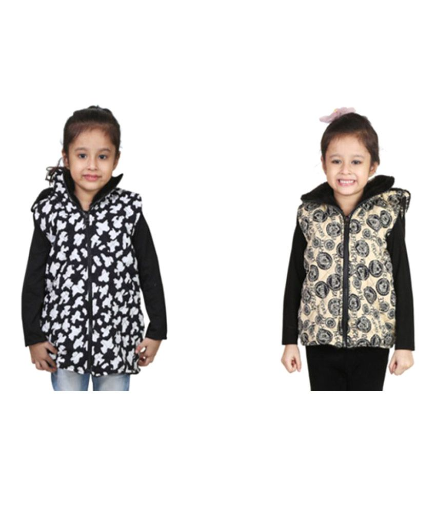 Crazies Multicolour Jacket For Girl's